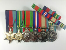 Set of 6 World War 2 WWII Pacific Medals