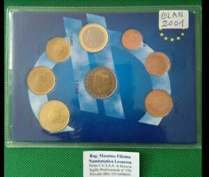 NL* OLANDA EURO KIT Anno 2001 8 VALORI con 2 euro TUTTI FDC