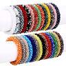 Nepal Crystal Glass Seed Bead  Crochet Nepal Handmade Bracelets