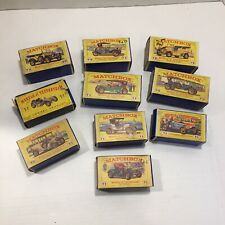 """VINTAGE Lesney MATCHBOX """" MODELS OF YESTERYEAR - CARS WITH BOXES - LOT OF 10 - C"""