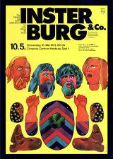 Insterburg & Co ORIGINAL A1 Konzertplakat 1973 GEROLLT Karl Dall Pop-Cabaret