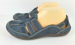 Clarks Haley Stork Womens Size 81/2W Navy Blue Closed Toe Slip On Casual Shoes
