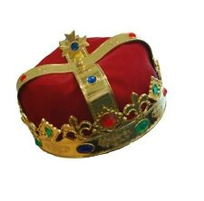 Costume Party Accessory Medieval Renaissance Red King Queen Crown