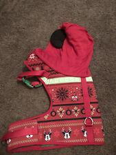 Disney Dog Harness, Mickey Mouse Christmas Themed With Hood. Size medium