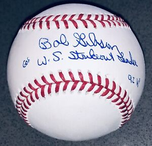 Bob Gibson signed St. Louis Cardinals autographed inscribed auto baseball JSA