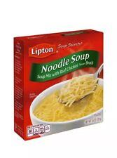 Lot 4 Boxes Lipton Noodle Instant Soup Mix, 4.5 oz Each 2 Packs In Each Box
