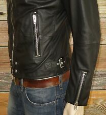 Diesel L-EDG Jacket in Black Size Large 100% Sheepskin Leather was $598.00