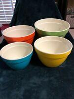 RARE Set - 4 Melamine Mixing Bowls Rubber Bottom Vintage Nesting Stacking