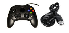 Black Xbox Original Controller Bundle Controller And Extension Cable By Mars 5Z