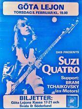 Suzi Quatro Norway 16x12 Repro Concert Poster
