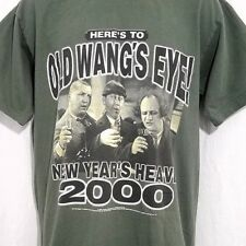 55a0d7ee Three Stooges T Shirt Vintage 90s New Years 2000 Moe Larry Curly USA Size  Large