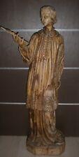 RARE !120 cm/ANCIENNE STATUE RELIGIEUX/BOIS/ SAINT STEPHANE ETIENNE /XVIIIè-XIXè