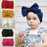 Fashion Baby Girl Wide Headband Bow Knot Turban Hair Band Kids Headwear Decor