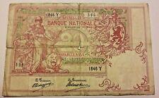 20 Francs Frank 1912 Belgique Belgïe Banknote Belgium Type 1894 Vermillon