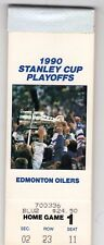 1990 COMPLETE BOOK OF FULL TICKET STUBS STANLEY CUP CHAMPIONS EDMONTON OILERS
