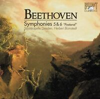 HERBERT/SD BLOMSTEDT - SINFONIEN 5 & 6  CD NEW+ BEETHOVEN,LUDWIG VAN