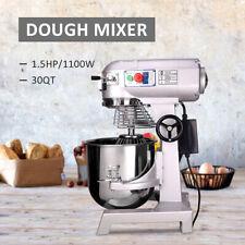 Dough Food Mixer 30 Qt 15hp 1100w 3 Speed 7kg Capacity Multifunction Blender