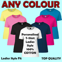 Personalized Ladies t-shirts Women's Custom Design, Free Postage, DTG print