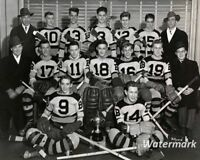 1943 Saskatoon Bruins Midget Hockey Team Gordie Howe Black & White 8 X 10 Photo