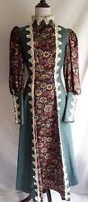Vtg 60's Gunne Sax Victorian Edwardian Tapestry Hippie Prairie Hostess Dress