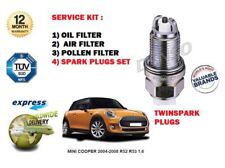 FOR MINI COOPER R52 R53 1.6 2004-2008 SERVICE KIT OIL AIR POLLEN FILTER + PLUGS