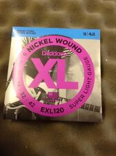 D'Addario Nickel Wound Electric Guitar Strings EXL 120 9/42 From Guitars Wales