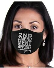 SECOND AMENDMENT SUPPORTER MASK, WASHABLE, REUSABLE, UNISEX, PATRIOTIC,HANDMADE