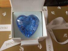 """SWAROVSKI Crystal S.C.S. Rinnovo Pezzo """"BLUE HEART"""" BELLISSIMO da collezione."""