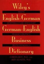 Wiley's English-German, German-English Business Dictionary