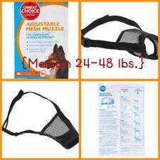 �Grreat Choice Adjustable Mesh Muzzle Medium 24-48 lbs. Dogs {Brand New}�