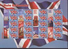 More details for gb qeii smiler stamp sheet umm mnh 2004 ls20 rule britannia union jack flag