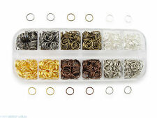 Binderinge Set 8 mm Durchmesser verschiedene Farben ca.9g je Farbe Biegeringe