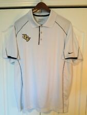 ⛳Nike Dri-FIT Tour Perf Golf Polo Shirt -Solid White -Mens Large-L -UCF Knights