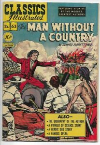 1949 Classics Illustrated #62 The Man Without a Country 1st Edition F/VF 7.0