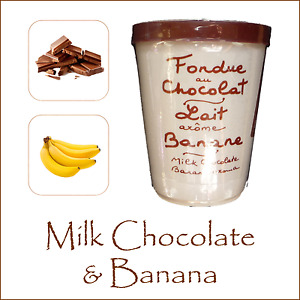 Chocolate Fondue Aux Anysetiers du Roy - Milk Chocolate & Banana Dipping Party