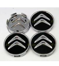 4 Cache Moyeu Centre de Roue Citroën Emblème 60mm diamètre Noir Jantes C4 C5 C6