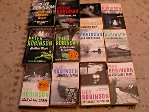 A PETER ROBINSON 12 PAPERBACK BOOK BUNDLE. FREEPOST