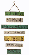 """WALL ART - """"LIFE IS BETTER AT THE BEACH """" WOODEN SIGN - WALL DECOR"""