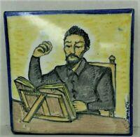 Vintage Duarte Ceramic Tile Hot Pot Holder, Trivet, Rest