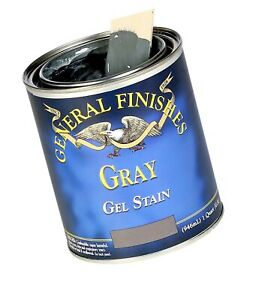 General Finishes GRH Oil Base Gel Stain, 1/2 Pint, Gray, 1 Half 1 Half-Pint