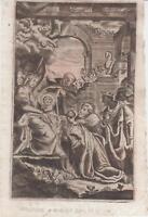 Incisione a bulino Adorazione dei Magi 1591