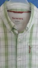 SIMMS FISHING VENTED MEN'S LARGE GREEN STRIPED