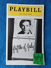 Fifth Of July - New Apollo Theatre Playbill w/Ticket - May 12th, 1981 - Thomas