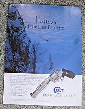 VINTAGE 1994 COLT ANACONDA PISTOL ADVERTISING SIGN POSTER ~ HUNTING SHOOTING GUN