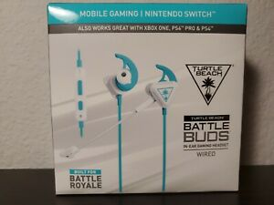 Turtle Beach Battle Buds In-Ear Gaming Headset - White/Teal