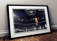 Lebron James NBA 2020 Autographed Poster Print. A3 A2 A1 Sizes