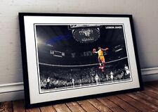 Lebron James NBA 2020 Autographed Poster Print. A3 A2 A1 Sizes