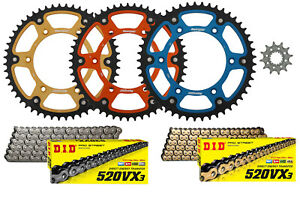 Supersprox Front & Stealth Rear Sprocket & DID VX3 XRing Chain Kit for KTM Husky