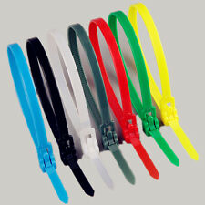 Releasable Nylon Cable Tie Reusable Self-Locking Tie Red Yellow Blue Green White