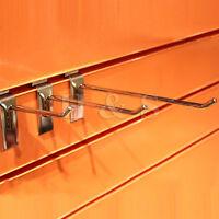 "Slatwall Single Hook Pin Arm Shop Display Fitting Prong Hanger 4"" 6"" 8"" 10"" 12"""